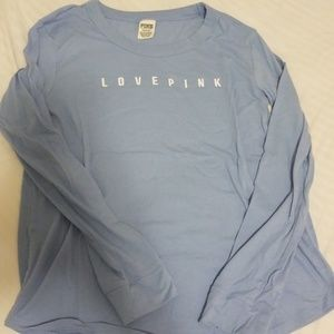 Pink brand long sleeve tee